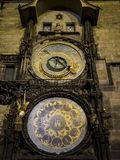Astronomic clock prague. Astronomic clock in old town square in Prague Stock Images