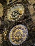 Astronomic clock praga. Astronomic clock in old town square in Praga Stock Photo