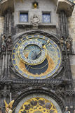 Astronomic clock in Prague. The astronomic clock in Prague Royalty Free Stock Photo