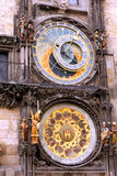 Astronomic Clock in Prague. The astronomic clock in Prague in Czech Republic in the place of the old town Royalty Free Stock Photography