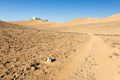Astronomic desert abservatory trail footpat rocks trailblazing, Royalty Free Stock Photos