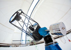 Astronomic observatory telescope in a dome Stock Image