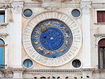 Astronomic watch Tower in St Mark`s Square, Venice Royalty Free Stock Photography