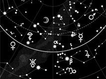 Astronomical Celestial Atlas stock illustration