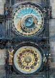 The Astronomical Clock. On the Old Town Hall at Prague Stock Photography