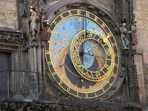 Astronomical clock. In Prague stock photography