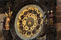 The Astronomical Clock. The Prague Astronomical Clock is a medieval astronomical clock Royalty Free Stock Image