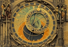 Astronomical clock. Detail image of the astronomical clock from Prague Stock Images