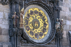 Astronomical clock calendar. Stock Photo