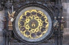 Astronomical clock calendar. Stock Photos