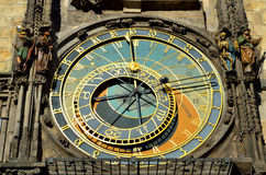 Astronomical clock in city of Prague Stock Images
