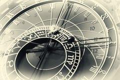 Astronomical clock in Czech capital Prague Stock Photo