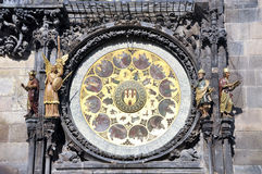 Astronomical Clock Detail Stock Images