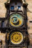 The astronomical clock 2. The astronomical clock (detail), in prague, czech republic Stock Image