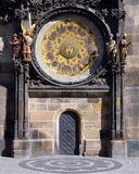 Astronomical clock detail - Prague sights Stock Photography