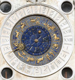 Astronomical clock. Clock face housed in clocktower on San Marco square,  Venice, Italy Royalty Free Stock Photography