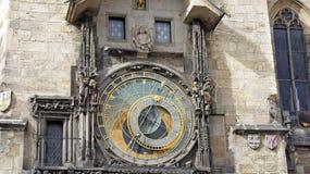 Astronomical clock. Famous astronomical clock in prague Royalty Free Stock Photo