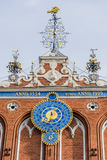 Astronomical clock House of the Blackheads Riga Royalty Free Stock Photography