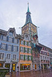Astronomical Clock in Marktplaz in the Old Town in Solothurn Royalty Free Stock Photo