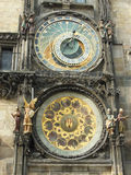 Astronomical Clock. Medieval Astronomical Clock in the Old Town hall in Prague Stock Image