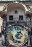 Astronomical clock with movable Apostles, Prague Stock Photos
