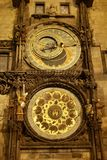 Astronomical clock at night Royalty Free Stock Photography