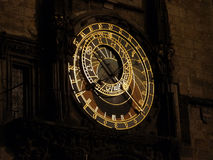 Astronomical Clock at night. Prague Stock Images