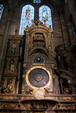 Astronomical clock in Notre Dame Cathedral, Strasbourg Stock Images
