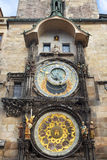 The Astronomical Clock at Old City Hall at the Market Square in Prague, Royalty Free Stock Photos