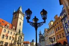 The Astronomical Clock on Old Towen Square, Prague, Czech Republic Royalty Free Stock Photo