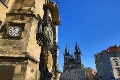 The Astronomical Clock on Old Towen Square, Prague, Czech Republic Stock Image