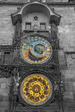 Astronomical Clock on Old Town Hall in Prague Stock Photo
