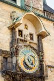 Astronomical clock on old town hall in Prague Stock Photography