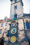 Astronomical Clock on Old Town Hall Tower in Prague Royalty Free Stock Photography