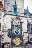 Astronomical Clock on Old Town Hall Tower, Prague Stock Photo
