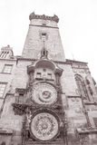 Astronomical Clock and Old Town Hall Tower, Prague Royalty Free Stock Images