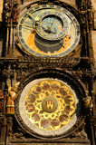 Astronomical clock in the Old Town in Prague. Stock Images