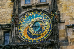 Astronomical Clock in the Old Town of Prague Stock Image