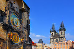 Astronomical Clock in the Old Town of Prague Royalty Free Stock Photo