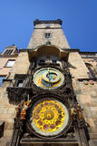 Astronomical Clock in the Old Town of Prague Royalty Free Stock Photography