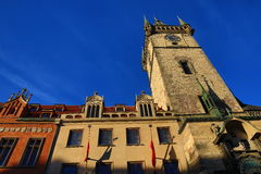 The astronomical Clock on Old Town Square,Old Buildings, Prague, Czech Republic Stock Photos
