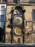 Astronomical clock, Old Town Square, Prague. Historical astronomical clock at Old Town Square. One of the must - sightseeings in Prague Royalty Free Stock Images