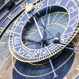 Astronomical clock. In The Old Town square, Prague. One of the most visited touristic destinations Stock Images