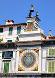 Astronomical Clock in Brescia, Italy Stock Images