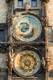 Astronomical Clock. Or Orloj lower dial on the Staromestske namesti Square, Czech Republic Royalty Free Stock Photo