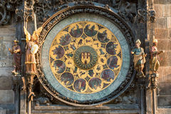 Astronomical Clock. Or Orloj lower dial on the Staromestske namesti Square, Czech Republic Stock Photos