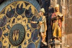 Astronomical Clock. Or Orloj lower dial on the Staromestske namesti Square, Czech Republic Royalty Free Stock Images