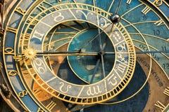 Astronomical Clock. Or Orloj lower dial on the Staromestske namesti Square, Czech Republic Stock Photography