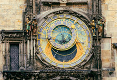 Astronomical Clock Orloj in the Old Square of Prague Royalty Free Stock Photography