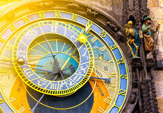 Astronomical Clock Orloj in the Old Square of Prague Royalty Free Stock Photos